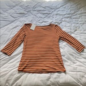 A New Day 3/4 Sleeve Striped Top
